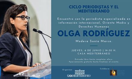 Encuentro con la periodista Olga Rodríguez en Casa Mediterráneo