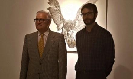 Diego Alberto Pardo Asunción de Villena expone en el Palacio Provincial su última colección formada por una serie de dibujos de aves