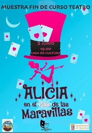 """Este domingo llega """"Alicia en el Pais de las Maravillas"""" a la Casa de Cultura de Finestrat con el taller infantil """"Arteatro"""""""