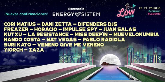 Low Festival presenta la programación de su Escenario Energy Sistem: Muevelokumbia, Cori Matius, Zaza, La Résistance