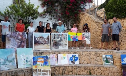 Aurelio Vicente García gana el Concurso de Pintura Rápida categoría Adultos de Altea