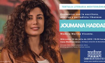 La escritora y periodista libanesa Joumana Haddad en Casa Mediterráneo