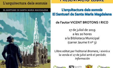 La Biblioteca de Novelda acull la presentació de la novel·la L'Arquitectura dels somnis