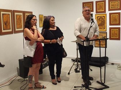 """Exposición """"Cine en pintura"""" como homenaje a Javier Santana en la Kakv de Villena"""