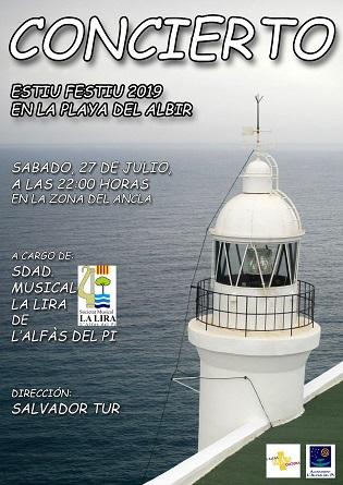 La Societat Musical La Lira oferirà aquest dissabte un concert a la platja de l'Albir