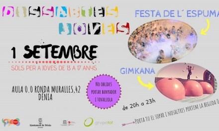 El Ayuntamiento de Dénia licita el programa Dissabtes Joves