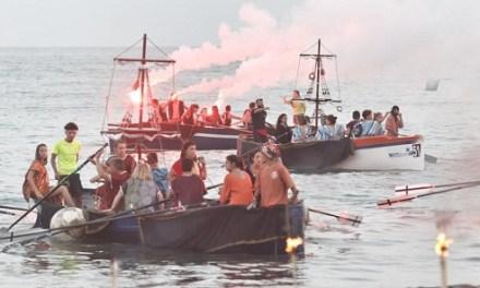 Más de 300 festeros de Altozano, El Rebolledo y Villafranqueza-El Palamó protagonizan el III Desembarco Moro