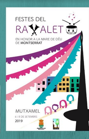 Cartel ganador Ravalet 2019 en Mutxamel