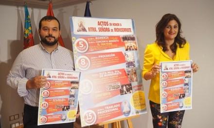 Oriola ret homenatge a la Verge de Monserrate del 5 al 15 de setembre amb una àmplia programació d'actes