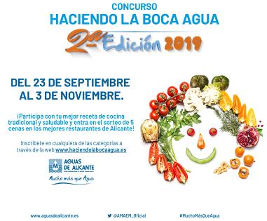 """Aguas de Alicante lanza la segunda edición del concurso de recetas de cocina """"Haciendo la boca agua"""""""