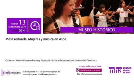 Taula redona Dones i música en el Museu Històric d'Asp