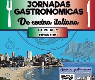 Finestrat celebra del 21 al 29 de septiembre unas Jornadas Gastronómicas dedicadas a la Cocina Italiana