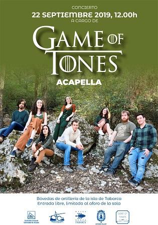 Concierto de la agrupación musical de la UA Game of Tones en Tabarca