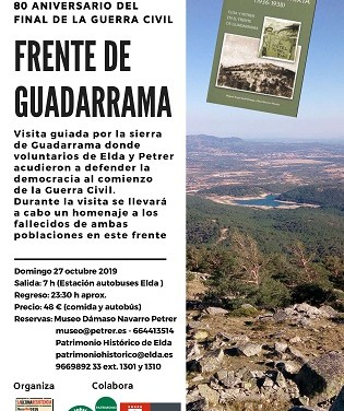 La Comissió de la Memòria Històrica homenatja la vintena de combatents d'Elda i Petrer que van morir en el front de Guadarrama