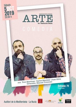 """""""Arte"""" una comedia dramática con enorme éxito en el Auditori de la Mediterrània de La Nucia"""