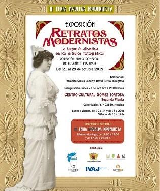 Turismo y Juventud abren la tercera edición de Novelda Modernista con la exposición Retratos Modernistas