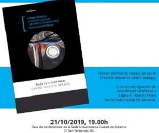 David García, graduat en Criminologia per la UA, presenta la seua novel·la Todo va a salir bien a la Seu Ciutat d'Alacant