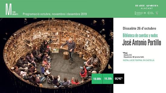 Biblioteca de cuerdas y nudos al Teatre Arniches