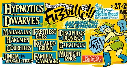 Las primeras confirmaciones del Festival Fuzzville!!! de Benidorm