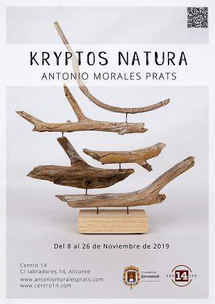 """""""Kryptos Natura"""" la exposición de Antonio Morales Prats  en el Centro 14 de Alicante"""