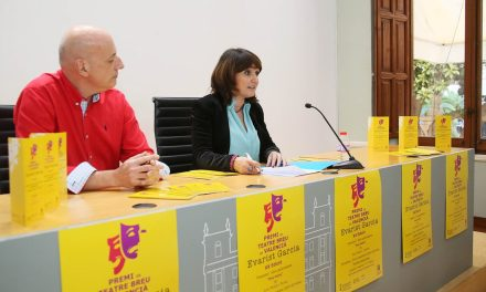 El escritor Jordi Peidro i Torres gana el Premi de Teatre Breu en Valencià Evarist Garcia con la obra Dos Mons