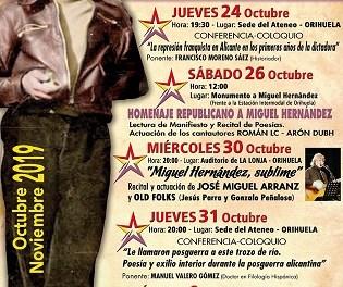 Este sábado se celebrará en el Cementerio de Orihuela el acto de homenaje a los fusilados en octubre y noviembre de 1939
