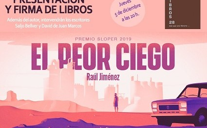 """Presentación en Libros28 de """"El Peor Ciego"""", Premio Sloper 2019"""