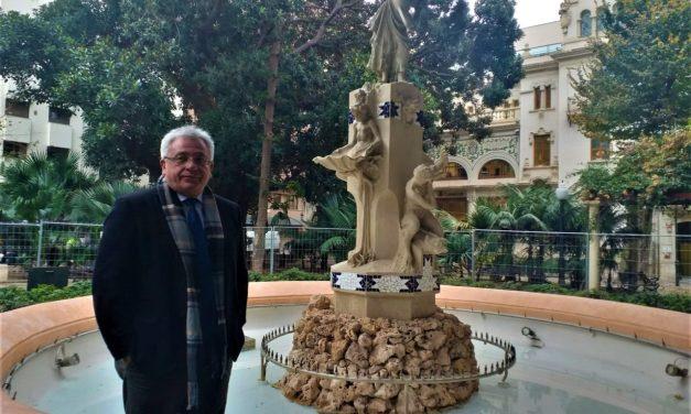El Ayuntamiento finaliza la restauración de la fuente de la Aguadora de la ciudad de Alicante