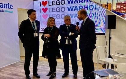L'Ajuntament d'Alacant presenta en FITUR les seues exposicions estrela per a la Sala d'exposicions de la Llotja en 2020 dedicades a LEGO i a Andy Warhol