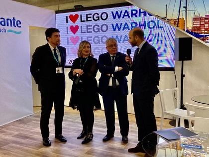 El Ayuntamiento de Alicante presenta en FITUR sus exposiciones estrella para la Sala de exposiciones de la Lonja en 2020 dedicadas a Lego y a Andy Warhol