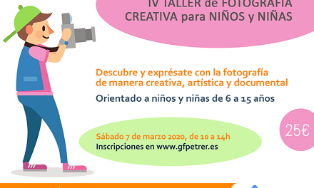 El Grup Fotogràfic de Petrer organitza l'IV Taller de Fotografia creativa per a xiquets i xiquetes