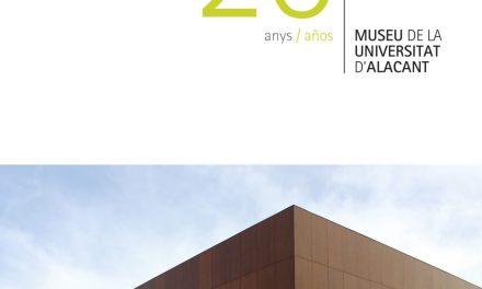 El Museu de la Universitat d'Alacant celebra aquest dijous el seu 20 Aniversari amb la presentació del llibre 20 Años MUA