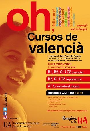 El Servicio de Lenguas de la UA amplía la oferta de cursos de valenciano en el Campus de San Vicente y en siete sedes universitarias