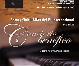 El pianista italià Giuliano Adorn oferirà un concert a la Casa de Cultura de l'Alfàs del Pi
