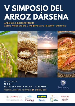 """V Simposio del Arroz Dársena titulado """"Arroces mediterráneos. Zonas productoras y variedades de nuestro territorio"""" el próximo 10 de febrero"""