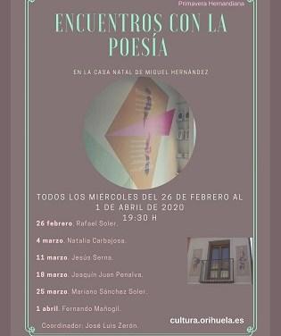 Aquest dimecres recitarà Natalia Carbajosa Palmero a la Casa Natal de Miguel Hernández