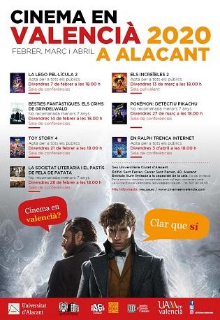 Vuelve el ciclo Cinema en Valencià a la Sede Ciudad de Alicante y, por primera vez, se programa en el Campus de Alcoy de la UA