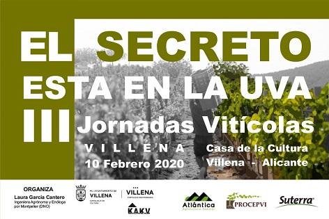 """""""El secreto está en la uva"""", terceras jornadas vitícolas en Villena"""
