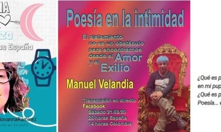 Beatriz Giovanna y Manuel A. Velandia recitan en el Día Mundial de la Poesía