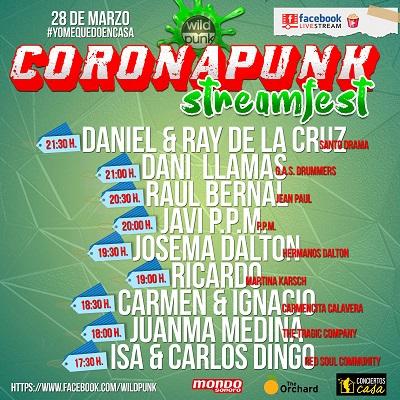 CORONAPUNK Streamfest, el festival en directo este sábado para hacértelo pasar bien en cuarentena