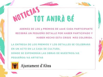 Participación Ciudadana y Comercio anuncian una exposición con todos los carteles del concurso pictórico 'Tot anirà bé' en Altea