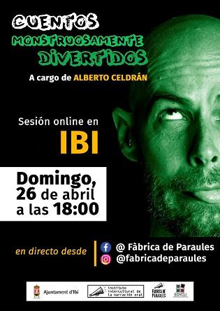 L'Ajuntament d'Ibi i la Fàbrica de Paraules preparen un conte teatralitzat online per als xiquets i xiquetes aquest diumenge