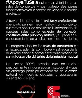 #Apoyatusala de Concerts