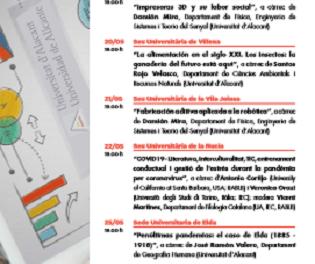 La Universidad de Alicante lanza el ciclo «Diálogos en el territorio. Conocimiento en tiempos de pandemia»