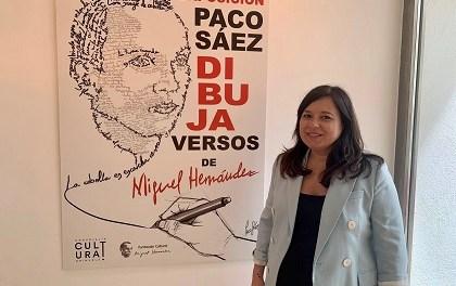L'exposició de l'il·lustrador Paco Sáez en homenatge a Miguel Hernández arriba a Oriola