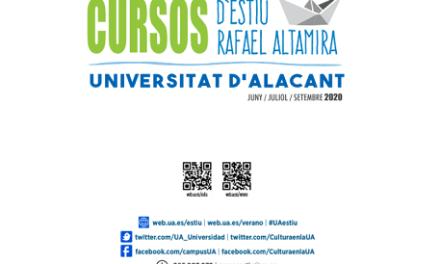 La Universidad de Alicante presenta su oferta de Cursos de Verano Rafael Altamira