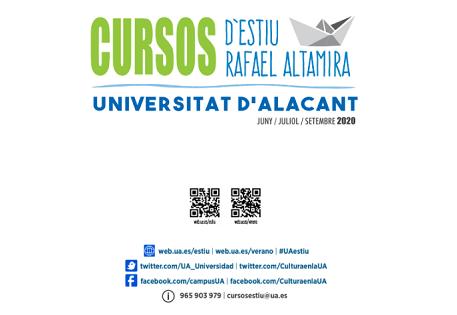 La Universitat d'Alacant presenta l'oferta de Cursos d'Estiu Rafael Altamira