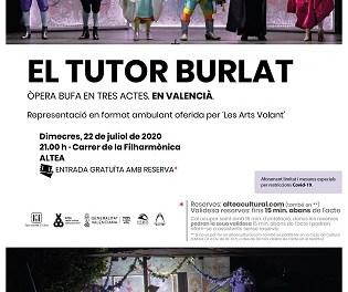 Altea acollirà l'òpera bufa en valencià «El Tutor Burlat»