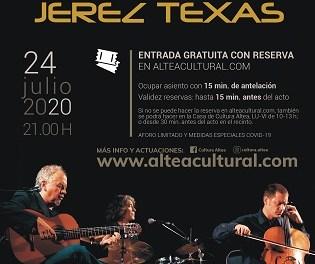 Cultura d'Altea presenta el concert de jazz flamenc que oferirà Jerez Texas