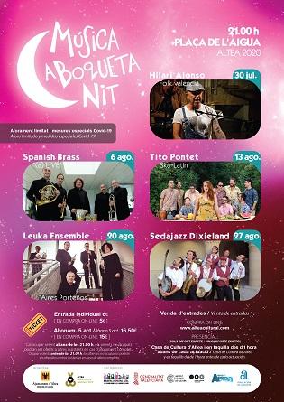 La música en directe torna este dijous amb el cicle ''Música a Boqueta Nit'' a Altea